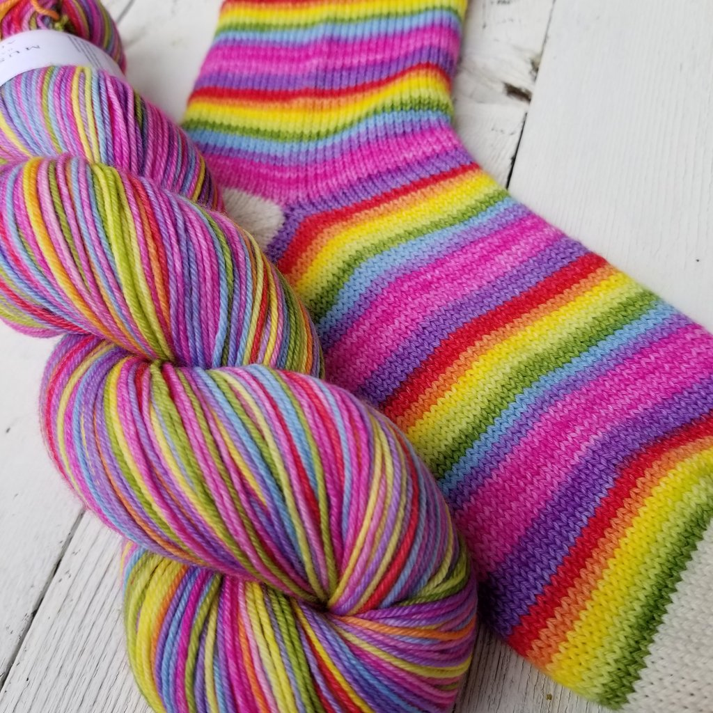 MUST STASH YARNI am Strong Affirmation Collection - PERFECT SOCK FINGERING75/25 SW Merino/Nylon440 yards$35.00