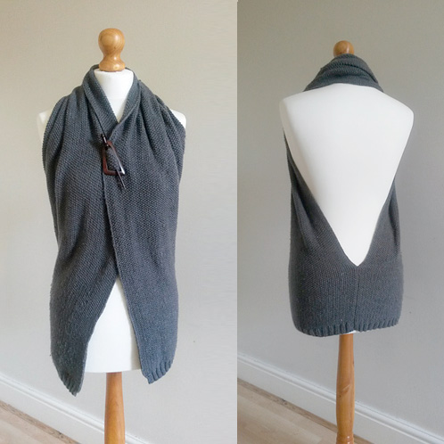MRS U MAKESMorgan Backless Jacket - We love this simple and unique design for a backless jacket in Moss Stitch. Using DK it is a quick knit and looks to be a really useful piece.£2.00 GBP