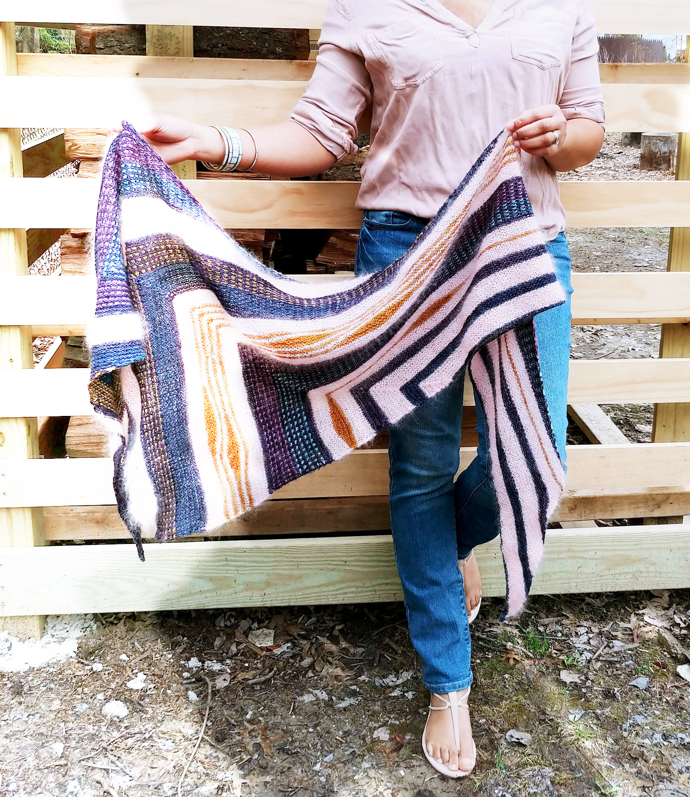 TAMY GOREHarpers Ferry Shawl - Raid your stash - run to your LYS, this is just one of the gorgeous patterns Tamy has on Ravelry. On-trend in Merino and Mohair. $6.50