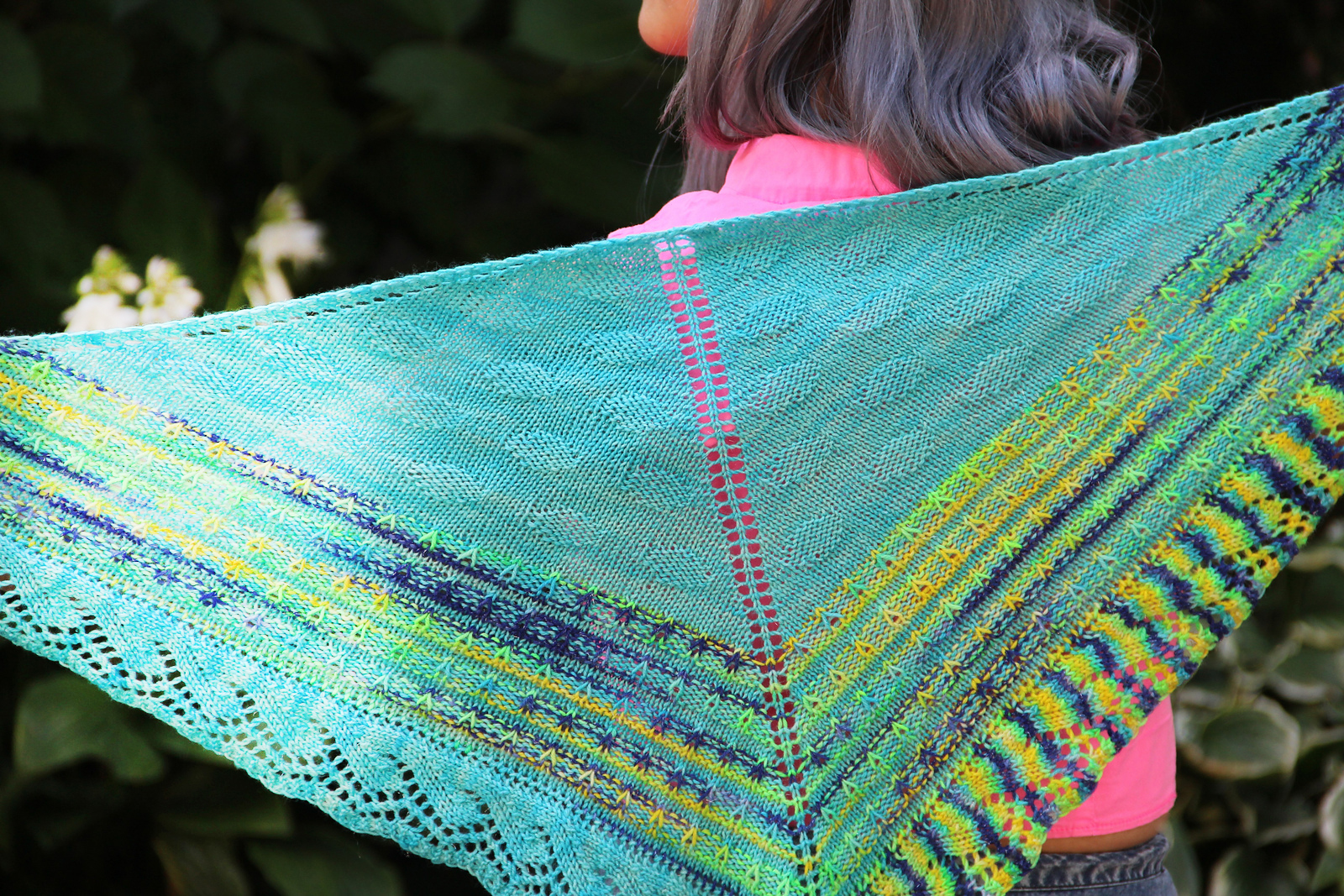 NORICHAN KNITSThe Sticker Book Shawl - Grab this pattern from @norichan knits.  A top-down triangular shawl,we imagine using stash or celebrating a special skein of wild colors. You choose; it's a great pattern that will never get boring.$7.00