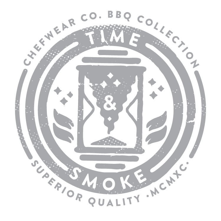 LOGO - For this design, I decided to work around the idea that making good BBQ is not easy and takes a-lot of time and care to do it right. If the right amount of time, smoke, and attention is taken the the results can be magical.
