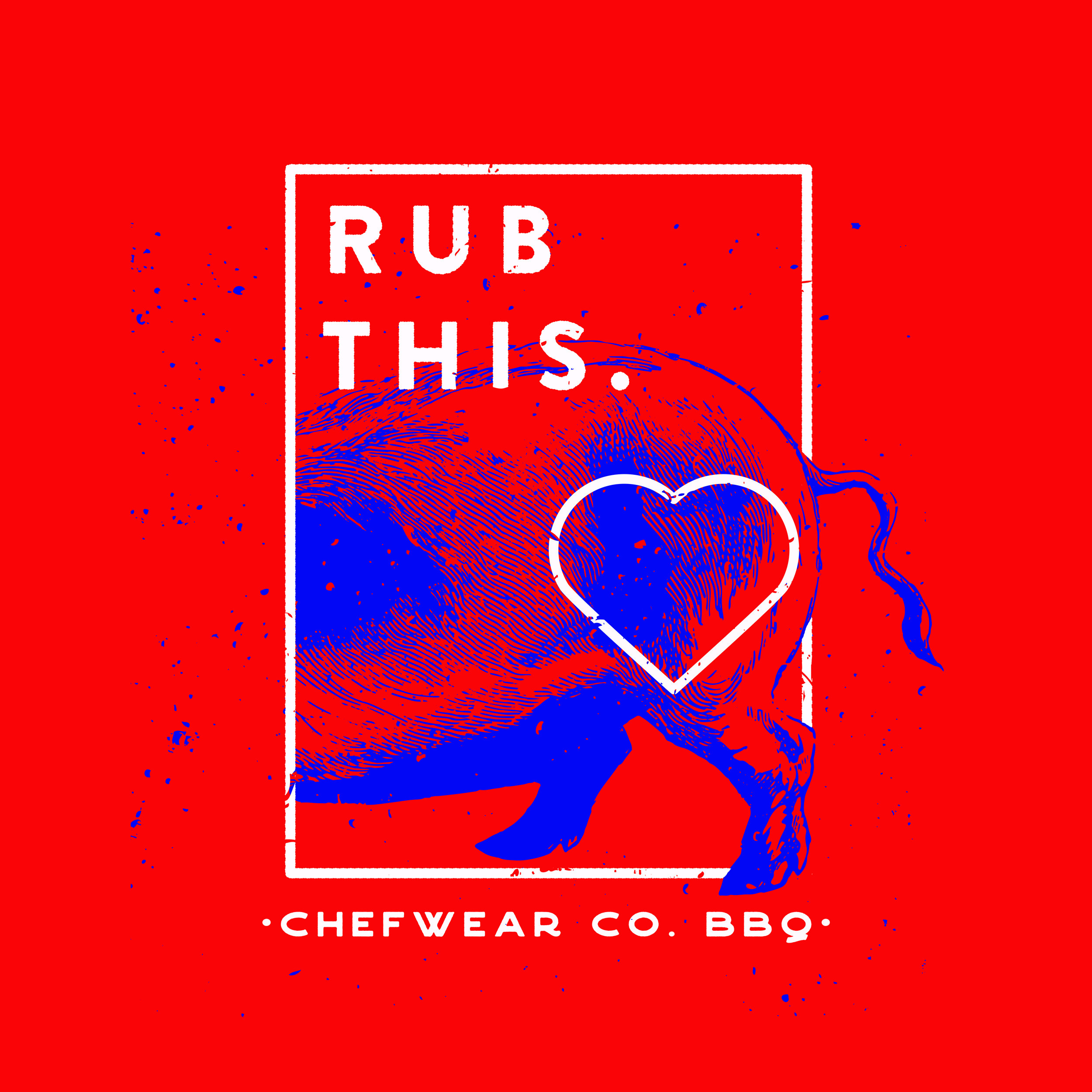 RUB THIS. - For this tee design I kept on with the theme of a fun play on words in regards to BBQ and dry rubbing pork butts.
