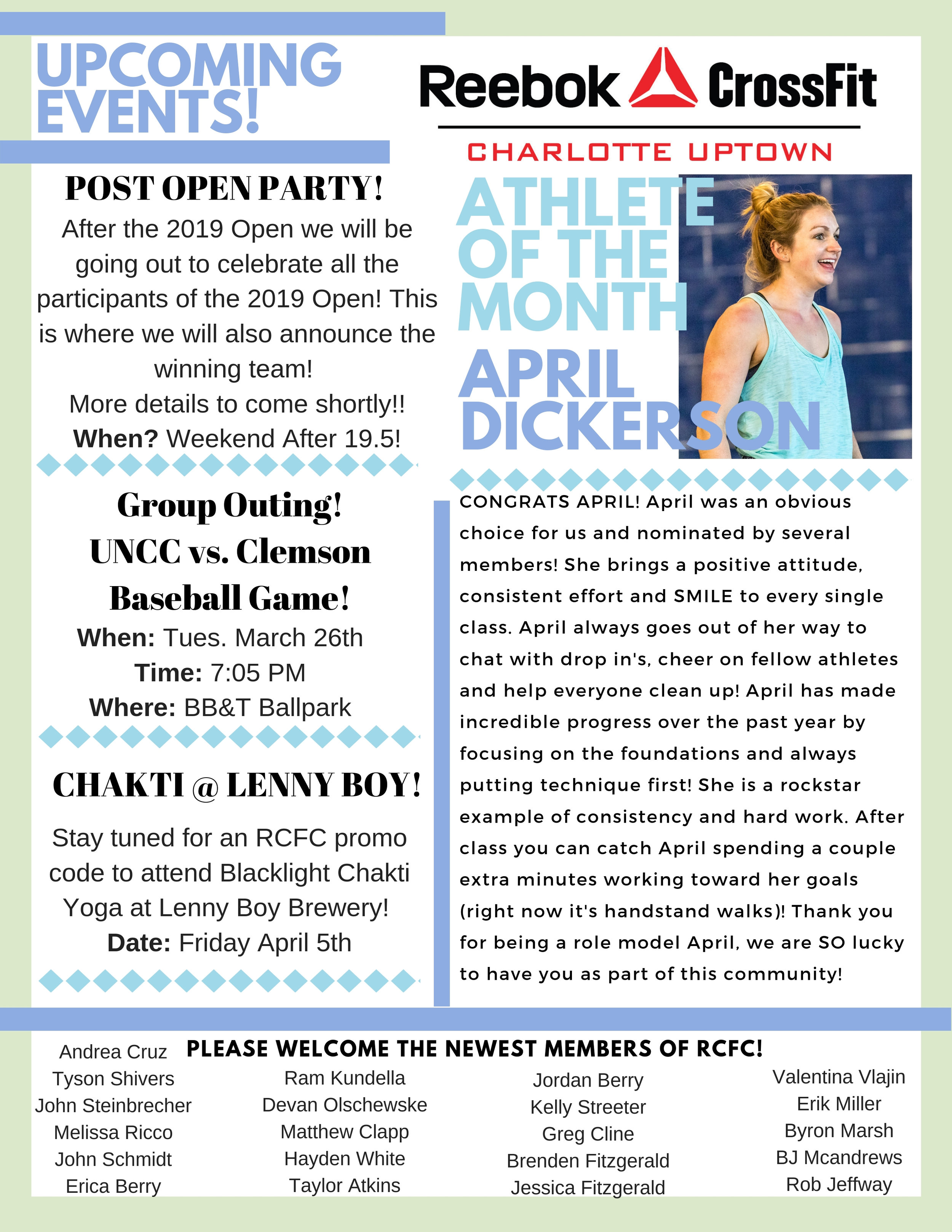 Monthly Newsletters! — Reebok CrossFit