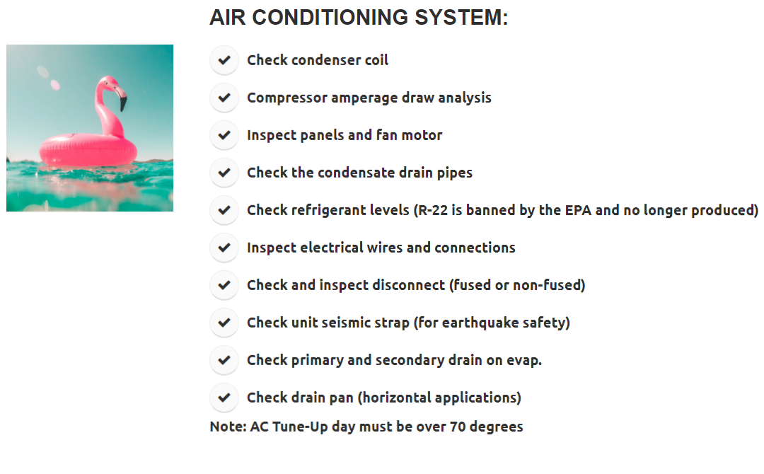 SoCal Climate Control AC Maintenance, Tune Up, and Inspection