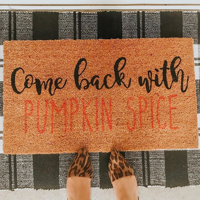 Yes- this happened. I've got some major fall decorating going on today! Can't wait to share all of the things! We have great weather for it today!!! Jon refuses to let me put any Halloween things outside because he's afraid people will think we are crazy 🤷🏻‍♀️ #fall #farmhouse #thrifty #decor #holidaydecor #halloween #love #celebrate #kirklandsfinds #kirklandshome #falldecor #pumpkinspice #rug #417land #porchdecor #farmhousestyledecor #midwest #mo #ozarks #intentionalcelebrating