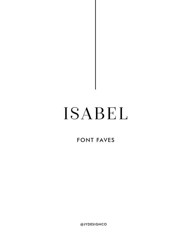 "Friday #fontfavorites comin' in hot!⠀ ⠀ Overtime, Isabel has become one of my go-to serif fonts. From the weight to the balance of the letters, I love everything about this font! A serif font is a font with the small extra stroke found at the end of the main vertical + horizontal strokes of some letters.⠀ ⠀ What's are some of your favorite ""go-to"" fonts?⠀ Comment below.⠀ .⠀ .⠀ .⠀ .⠀ .⠀ .⠀ .⠀ .⠀ .⠀ .⠀ #fontfavorites #friyay #fridaymood #risingtidesociety #rts #dontquityourdreamjob #jydesignco #jackieyoder #creativewomen #communityovercompetition #elevatecultivate #creativepreneur #calledtobecreative #ladyboss #girlboss #beyourownboss #smallbizowner #femalebusinessowner #entreprenuerwoman #entrepreneurmindset #entreprenuerstyle #entrepreneurslife #gallupdesigner #galluprealtrue #galluparts #newmexicodesigner #newmexicorealtrue"