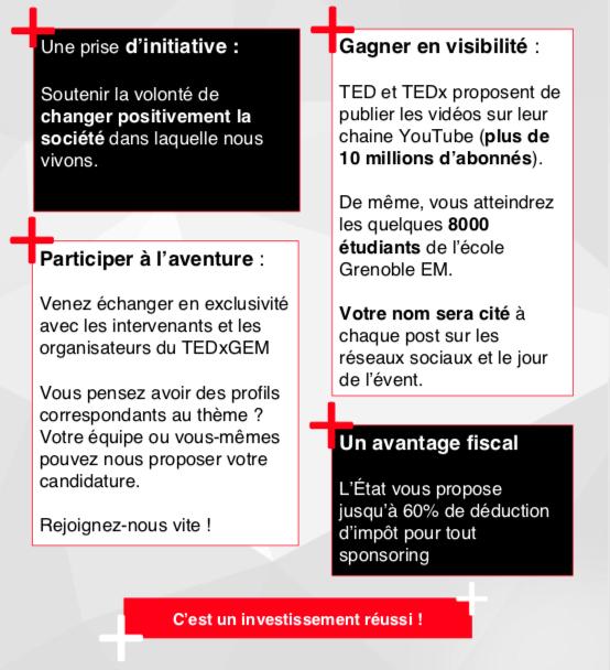 TEDxGEM Plaquette
