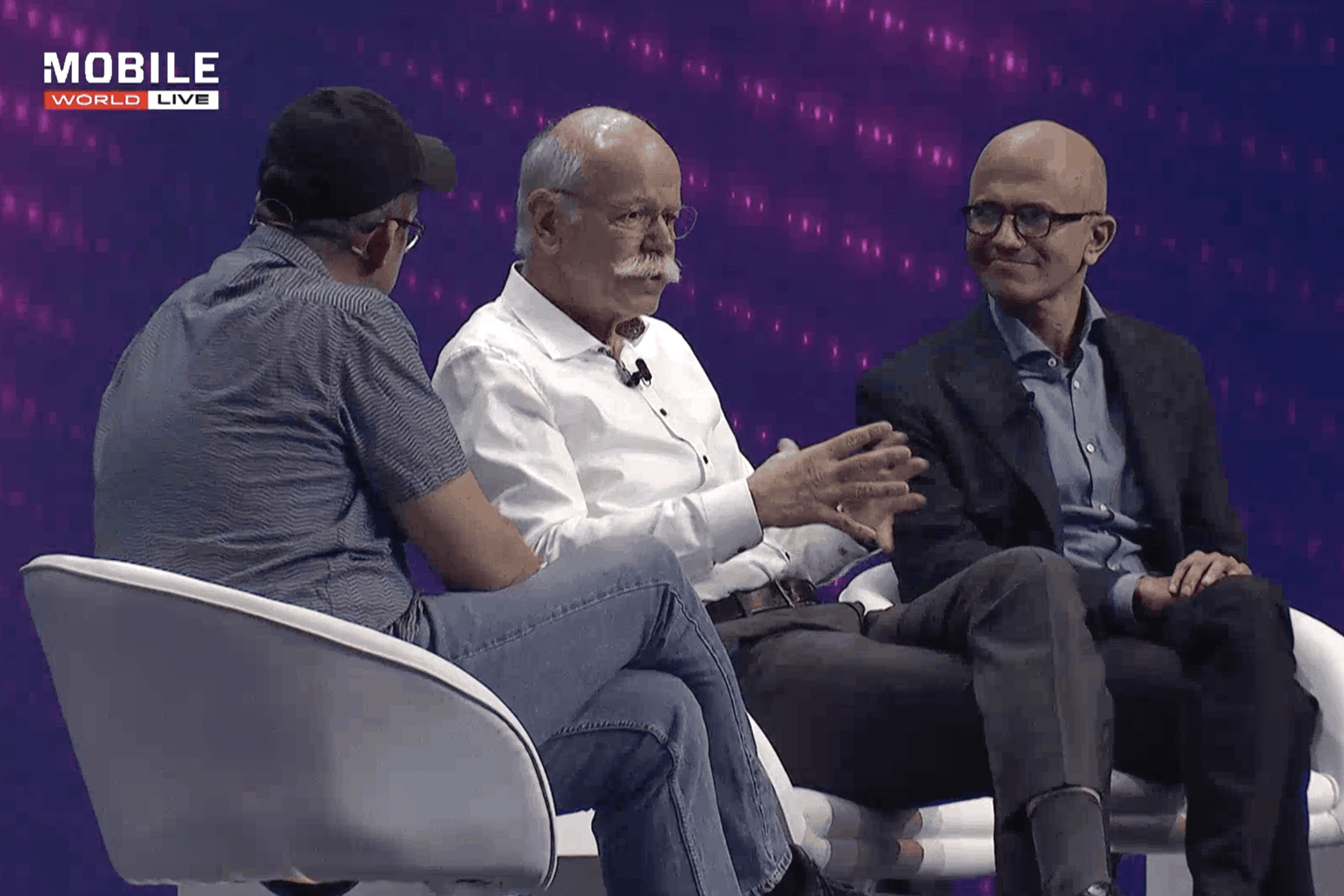 Dieter Zetsche, Chairman of Mercedes Benz & Satya Nadella, CEO of Microsoft, discuss the intelligent future