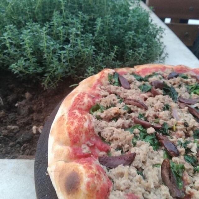 How is Tsom feeling?? 🍕yetsom extra spinach at 🎈Effoi Indigo In Ayat #effoi #effoipizza #fastingpizza #vegan #delicious