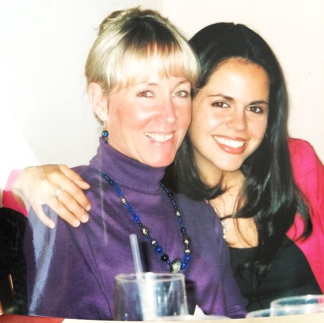 Tyaga and her adopted mother, Kanka, in the early 2000s.