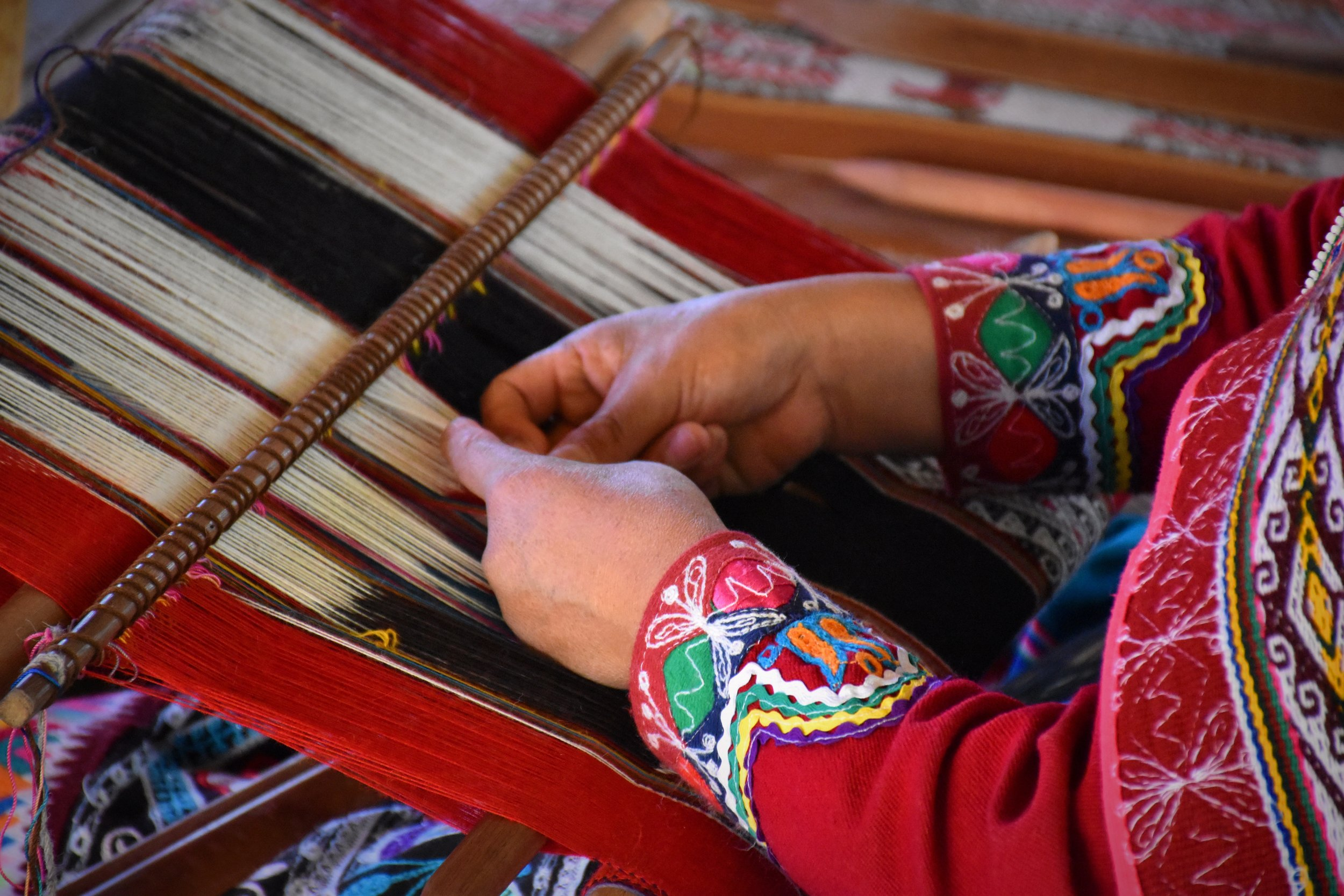 The timeless beauty of weaving a tapestry is the same in our own lives and development.