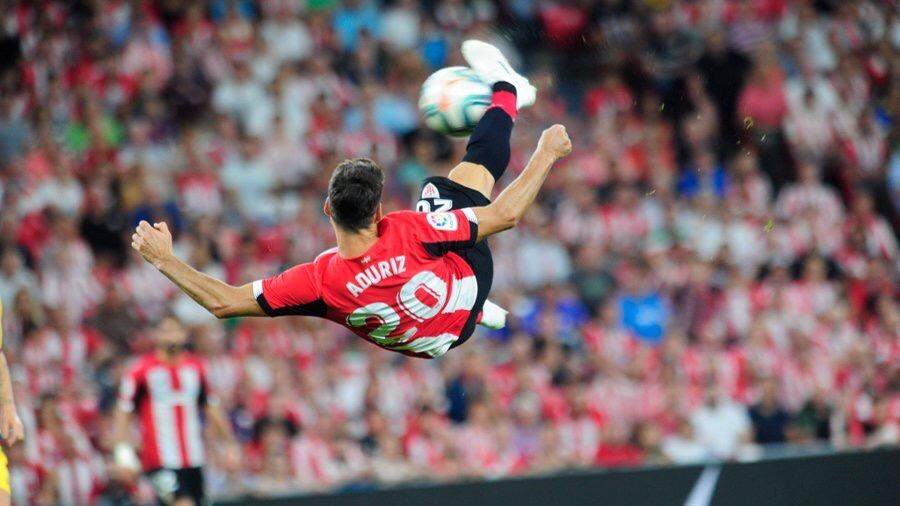 Aritz Aduriz scores Winner for Athletic Bilbao, in his Final Season.
