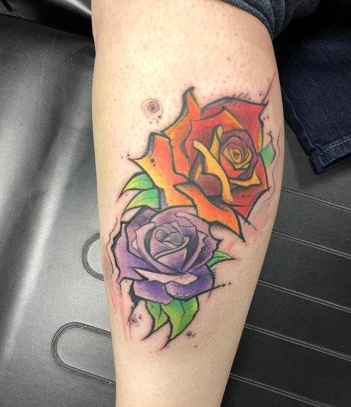 Water Color Tattoo  by Yeyo Mondragon  @ Certified Tatto Denver Colorado 3.jpg