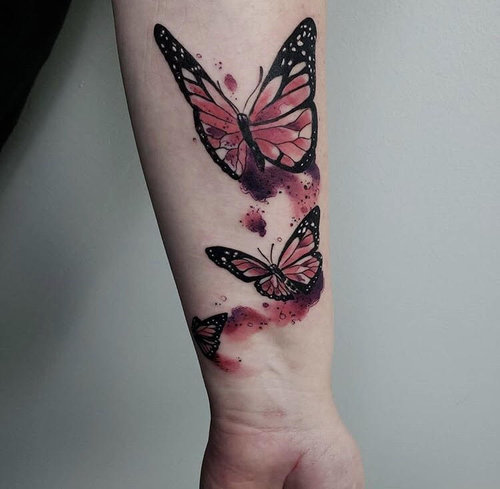 Water Color Butterfly Tattoo by Jeff at Certified Tattoo Studios.jpg