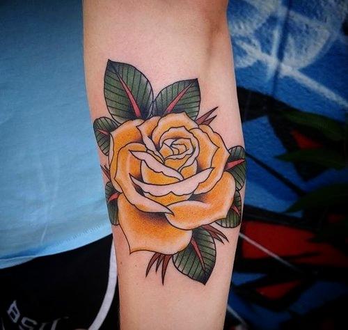 Traditional Rose Tattoo by Jon Hanna at Certified Tattoo Studios.jpg