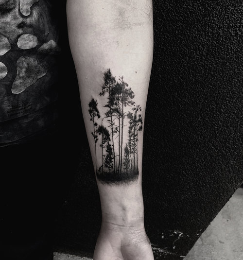 Black and Gray Forest Tattoo by Gabe  at Certified Tattoo Studios Denver Co.jpg