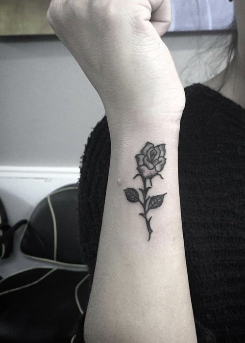 Black and Gray Rose Tattoo by at Certified Tattoo Studios Denver Co.jpg