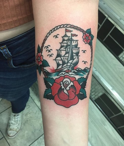 Color Traditional Tattoo by Spencer at Certified Tattoo Studios Denver Co.jpg