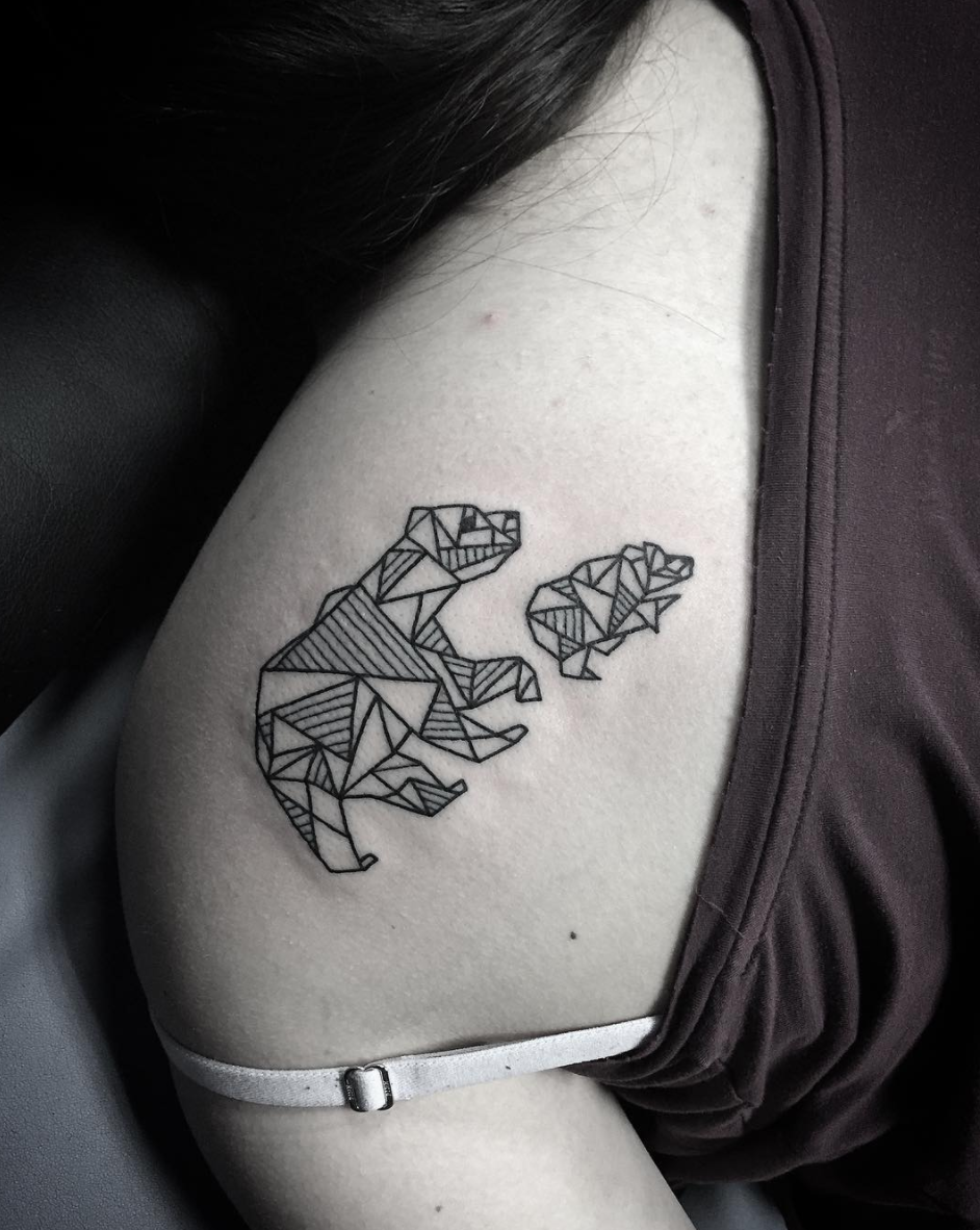 Simple Line Bear Tattoo by Spencer at ertified Tattoo Studios.png