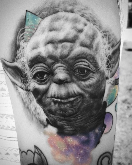 Black And Gray Yoda Tattoo by Alix at Certified Tattoo Studios Denver Co.jpg