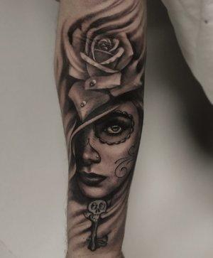 Black and Gray Custom Tattoo by Bryan Alfaro at Certified Tatto Studios in Denver Co.jpg