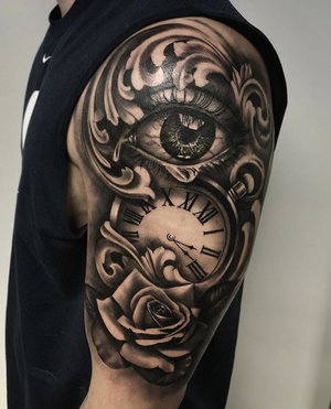 Black and Gray Eye Tattoo by Bryan Alfaro at Certified Tatto Studios in Denver Co.jpg
