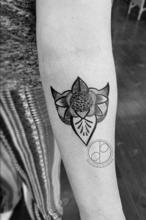 Custom Dot work Black and Gray Tattoo by DavidP at Certified Tattoo Studios Denver Co.jpg