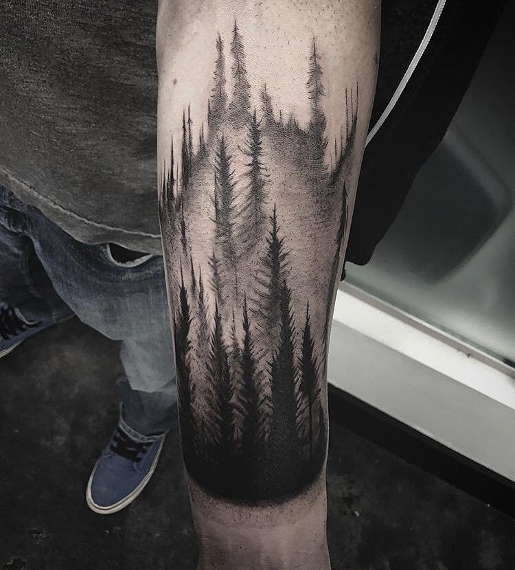 Custom Black and Gray Forest Tattoo by Gabe  at Certified Tattoo Studios Denver Co.jpg
