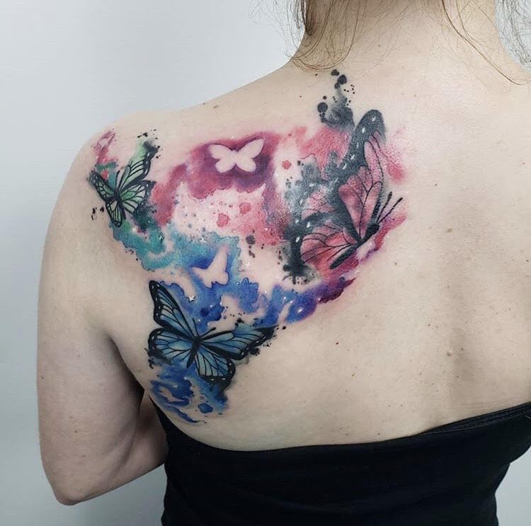Custom Water+Color+ Butterflies+Tattoo+by+Jeff+at+Certified+Tattoo+Studios.jpg