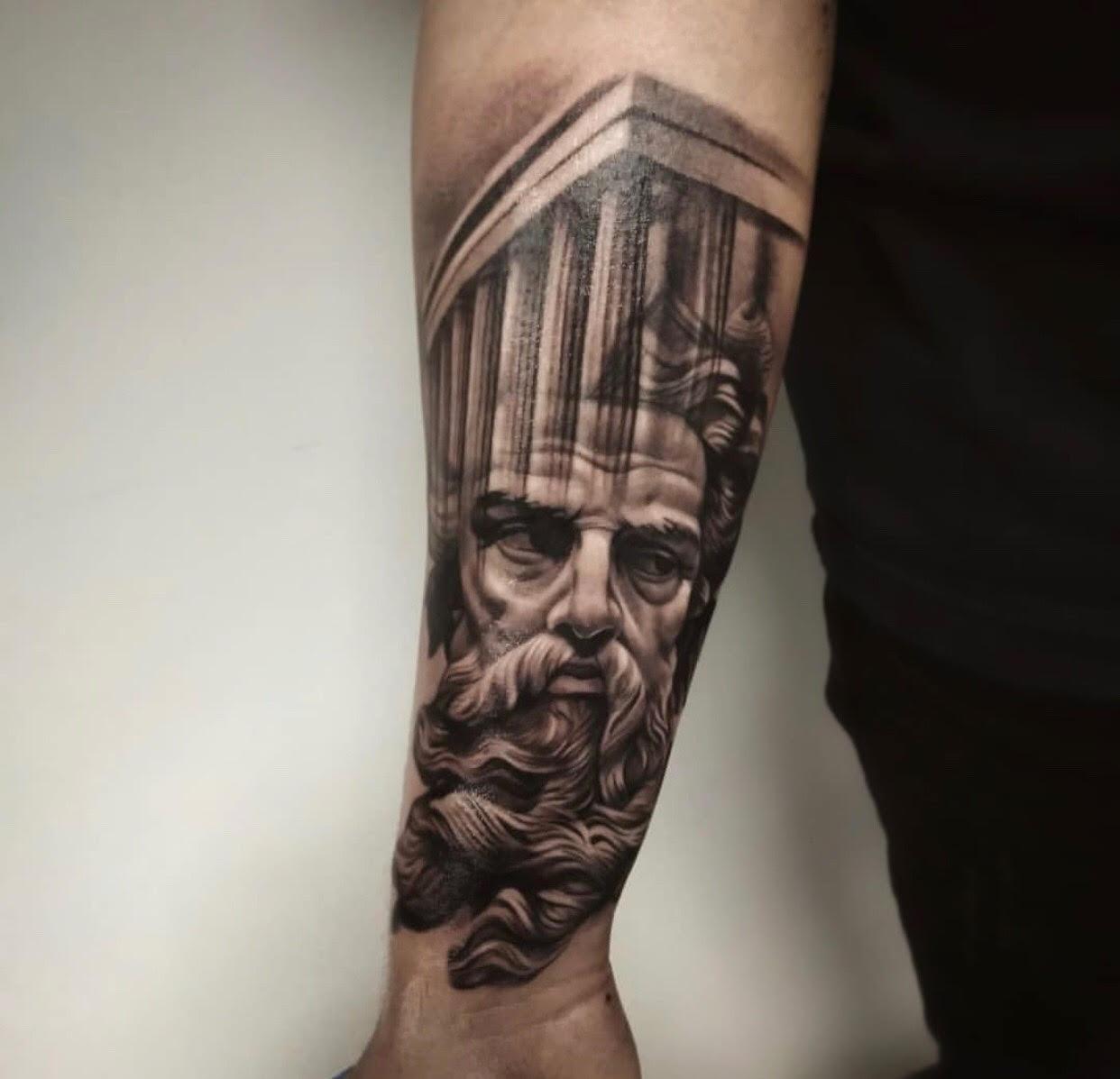 Custom-black-and-grey-Greek God Zeus tattoo-by-+Bryan+Alfaro+at-certified-customs-denver-co-12.jpg