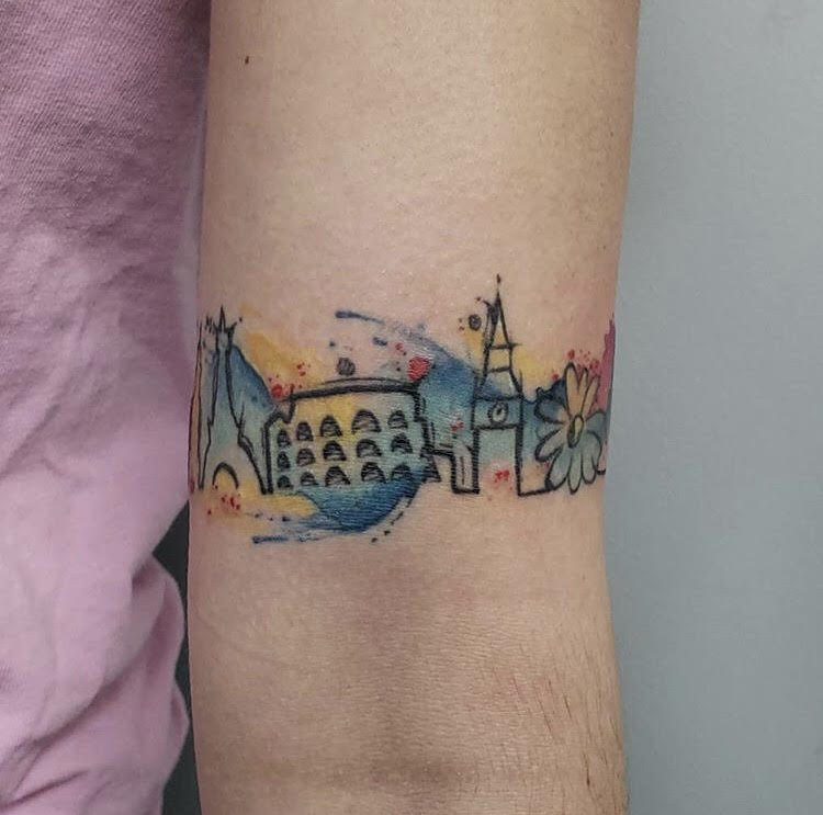 CCustom Water Color Skyline Tattoo by Jeff  at Certified Tattoo Studios Denver Co.jpg