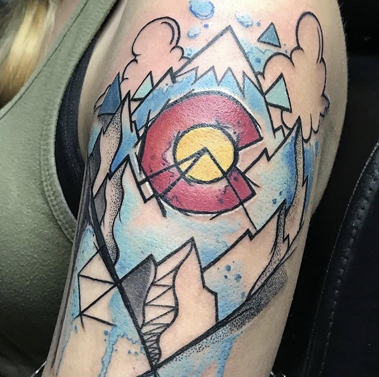 Custom Full Colo0r Colorado and Mountain Tattoo by Michael Myers  at Certified Tattoo Studios Denver Co.jpg