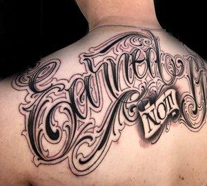 Custom Black and Grey  Earned Script Tattoo by Salvador Diaz at Certified Tattoo Studios in Denver Co (17).jpg
