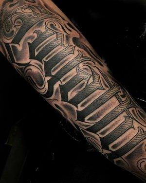 Custom Black and Grey Loyalty Script Tattoo by Salvador Diaz at Certified Tattoo Studios in Denver Co (20).jpg