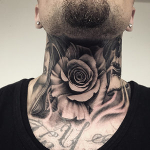 Custom Black and Grey Rose in Smoke Neck Tattoo by Salvador Diaz at Certified Tattoo Studios in Denver Co (29).jpg