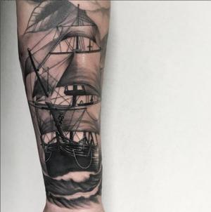 Custom Black and Grey Sailing Ship Tattoo by Salvador Diaz at Certified Tattoo Studios in Denver Co (34).jpg
