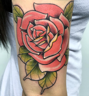 Custom Full Color Red Rose  Neo Traditional Style Tattoo by Alec at Certified Tattoo Studios Denver CO  (4).png