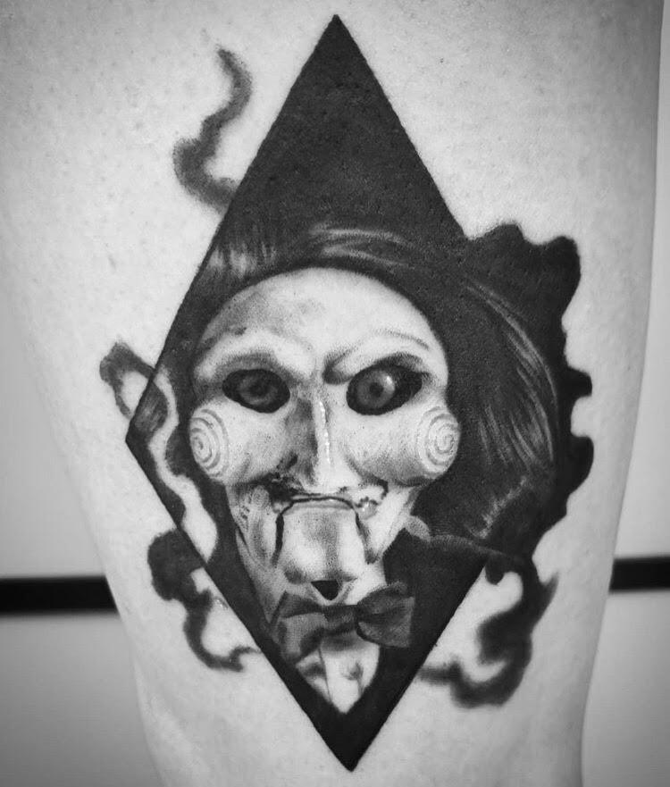 Custom Jigsaw Pupet Portrait Tattoo by Alix at Certified Tattoo Studios Denver CO.jpg
