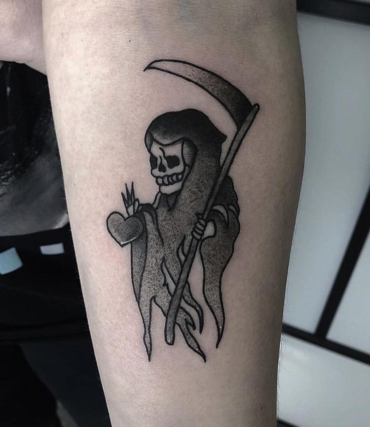 Custom Grim Reaper Tattoo by Gabriel Mondragon at Certified Tattoo Studios Denver Co (2).JPG