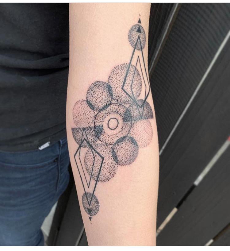 Custom Geometric Tattoo by Skyler Espinoza at Certified Tattoo Studios Denver CO .JPG