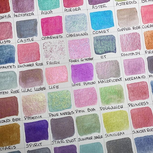 Shimmer Watercolors - With over 75 unique colors, we offer you one of the largest selections of handmade shimmer watercolors.