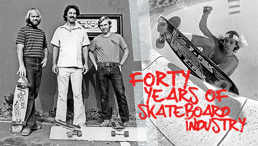 Dodds, Balma and Dominy, 1976. The Beginning of Tracker trucks. And Jay Adams, one of Trackers first and Most Loyal Riders.