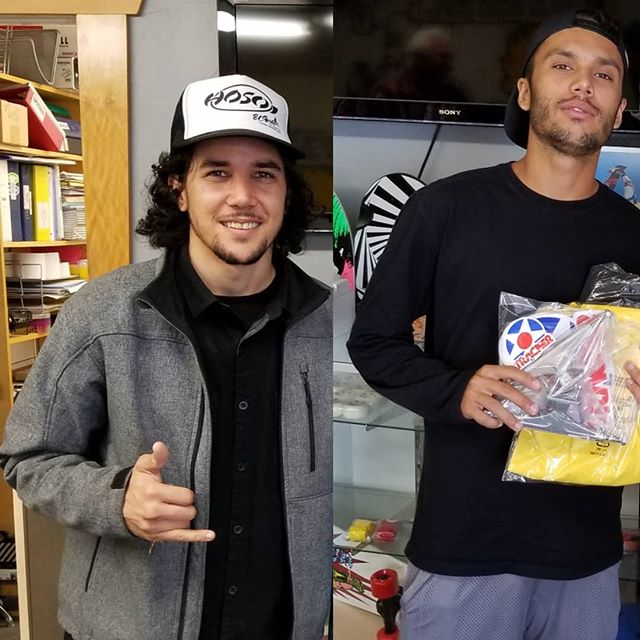 Keep an eye out for these heavy hitters, @danielcuervord and @hericlesfagundes, today at the #VansPoolParty.  #TeamTrackerTrucks