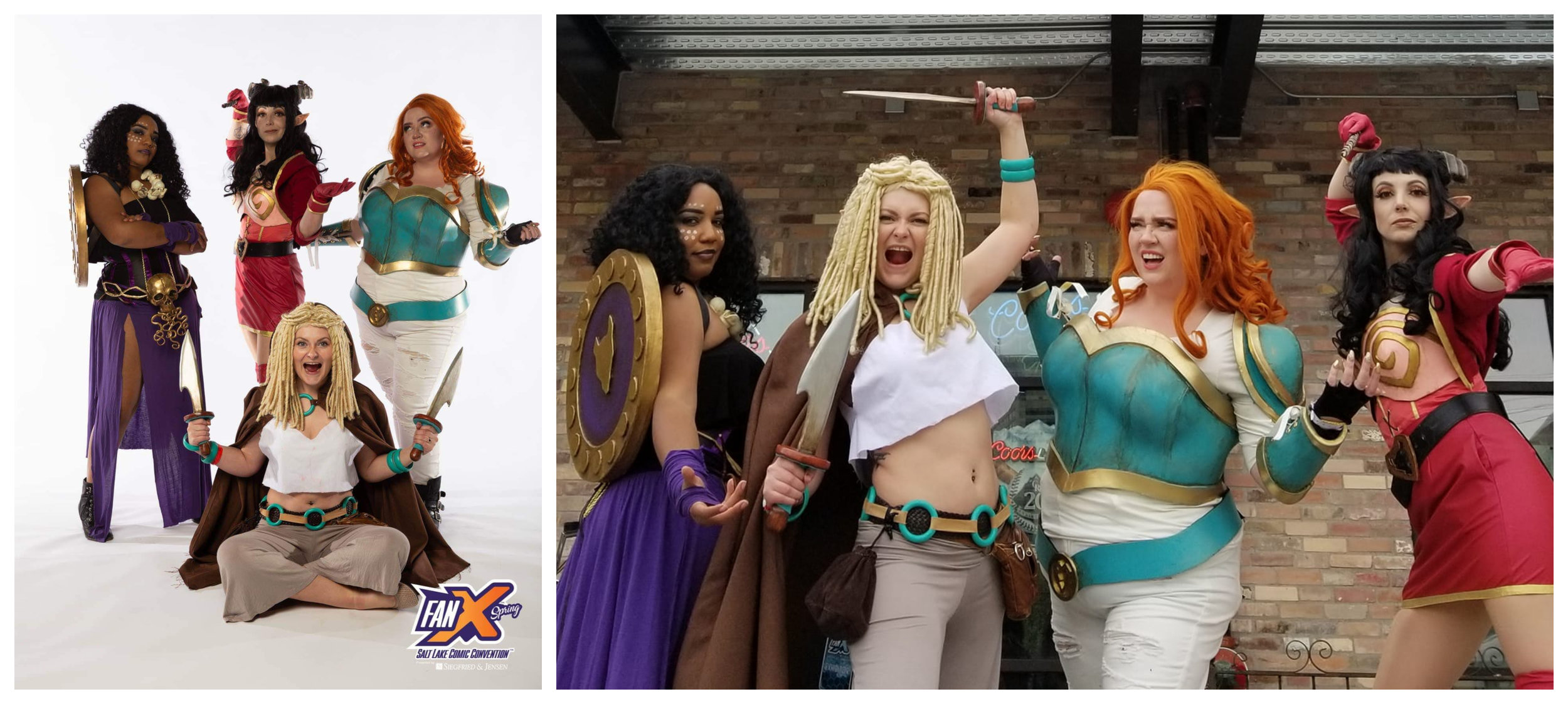 To the slaughter, Rat Queens! I am really damn proud of our group.  Photo on the left again courtesy of Chiseled Light and FanX.