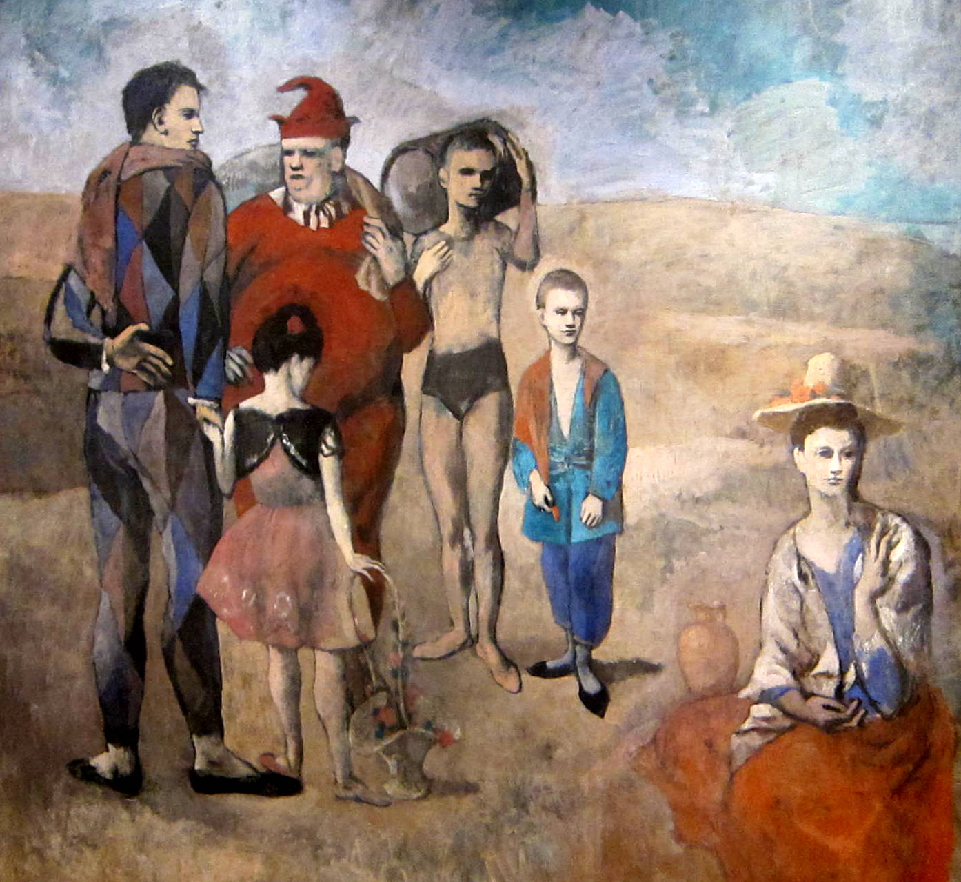 1.  Family of Saltimbanques,  Pablo Picasso, Oil on Canvas, 1905