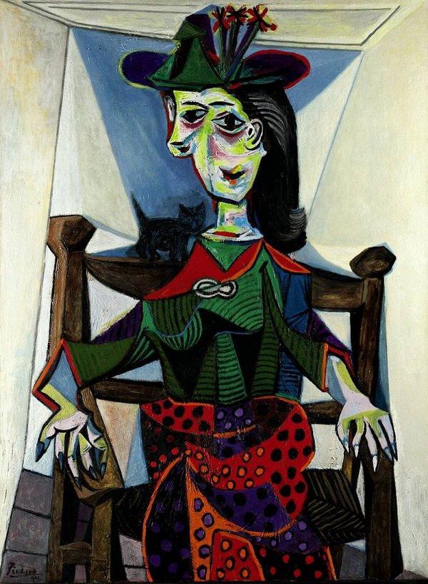 2.  Dora Maar au Chat , Pablo Picasso, Oil on Canvas, 1941