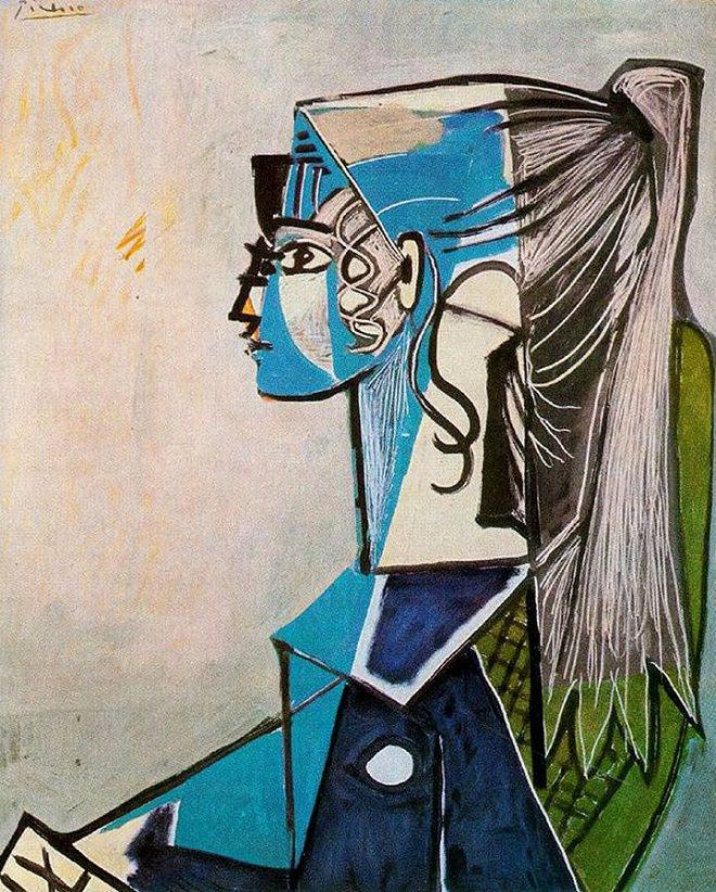 3.  Portrait de Sylvette David 21 , Pablo Picasso, Oil on Canvas, 1954