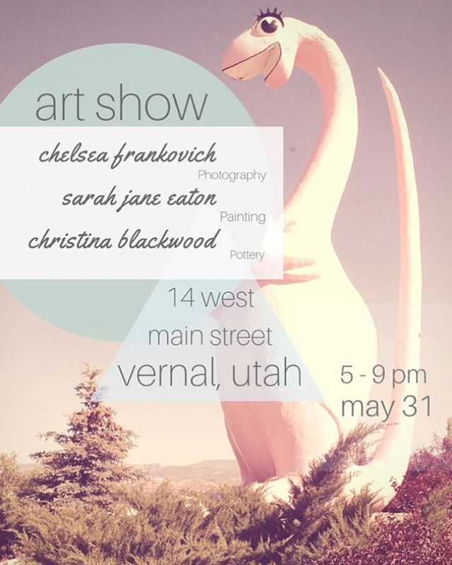 I am in Vernal for An Art Show! Come see my recent work as well as the photography of Chelsea Frankovich and the pottery of Christina Marie Blackwood. If you want to come say hello this is your chance!  14 W Main Street from 5-9pm. #anartshow #artists #painting #photography #pottery #portraitpainting #pouredpainting #supportlocalartists