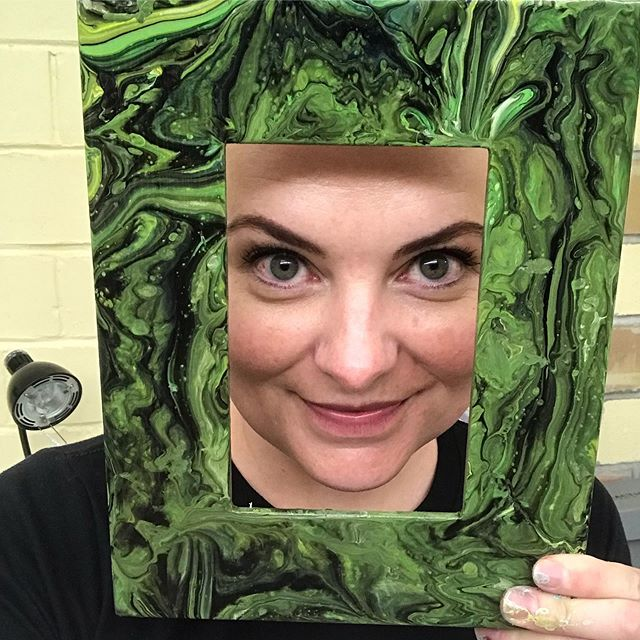 Fun fact: I'll have my first run of poured picture frames at the John Wesley Powell Art Festival in Vernal next week! Come see me and get yours before the first run are gone- June 20-22 in Vernal, Ut!  My work will be on display and up for sale!  #artfestival #pouredpaintings #pouredframes #portraitartist #vernalutah #johnwesleypowell