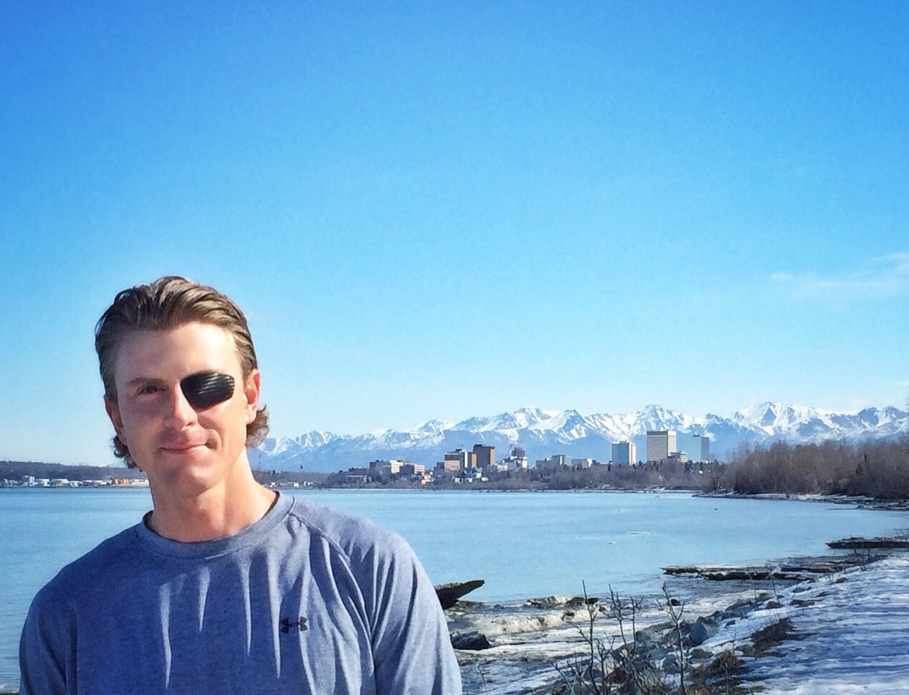 Anchorage in the background
